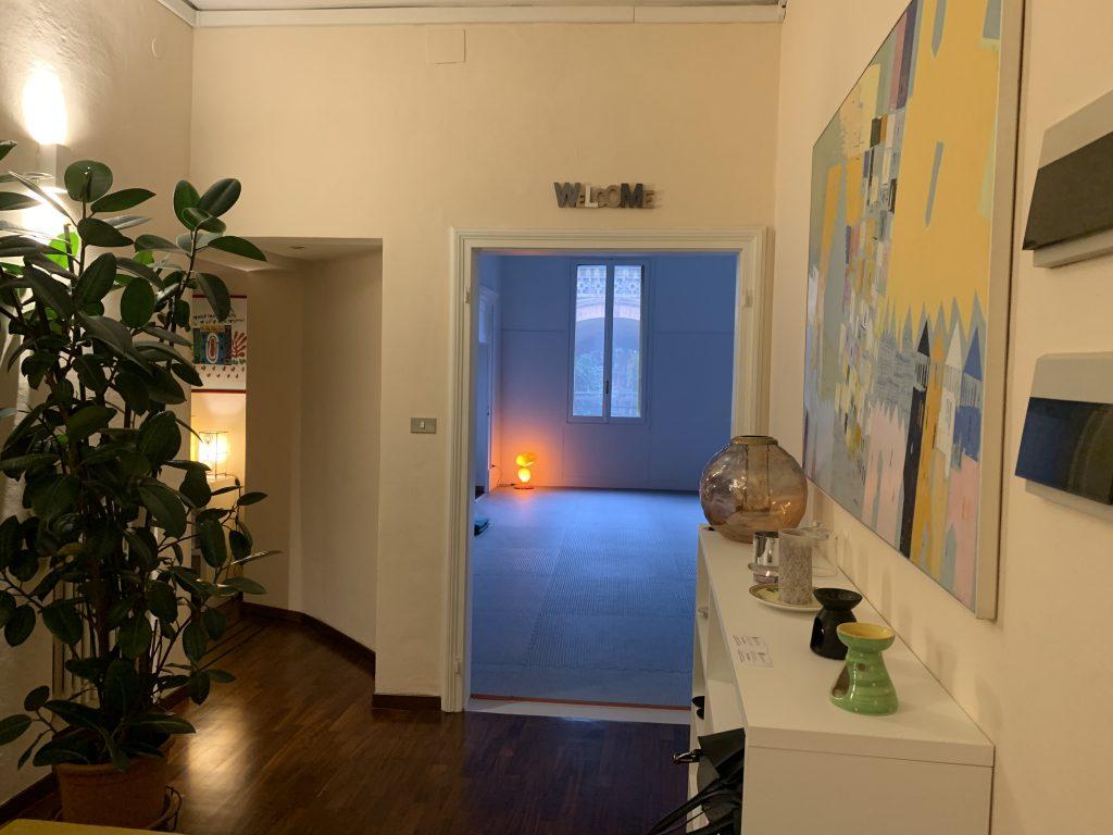 ingresso e sala yoga integrato